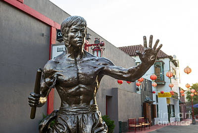 Bruce Lee Photograph - Bruce Lee Statue In Chinatown. by Jamie Pham
