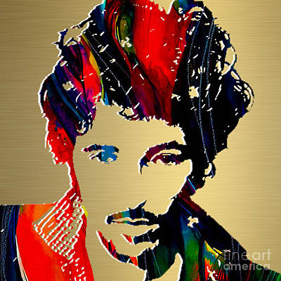 Band Mixed Media - Bruce Springsteen Gold Series by Marvin Blaine
