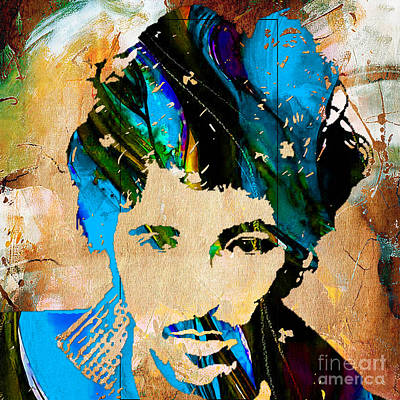 Bruce Springsteen Painting Art Print by Marvin Blaine