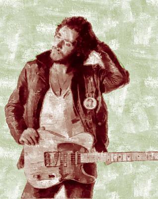 Bruce Springsteen Digital Art - Bruce Springsteen by Galeria Zullian  Trompiz