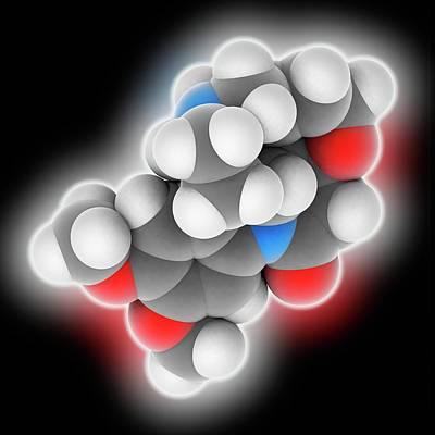 Brucine Molecule Art Print by Laguna Design