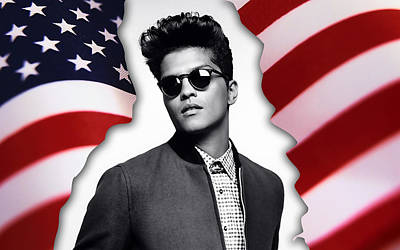 Bruno Mars Art Print by Marvin Blaine