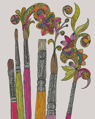 Brushes Art Print by Valentina