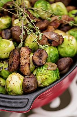 Brussels Sprouts In Dish Art Print by Aberration Films Ltd