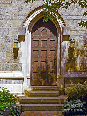 Photograph - Bryn Athyn Cathedral Side Door by Val Miller