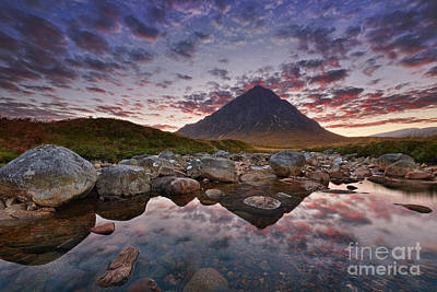 Scenic River Photograph - Buachaille Etive Mor by Rod McLean