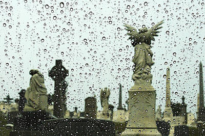 Bubbles And Angel Loudon Park Cemetery Baltimore Maryland 2010 Original by John Hanou
