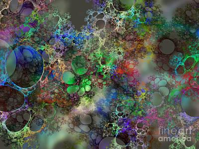 Bubbles Art Print by Klara Acel