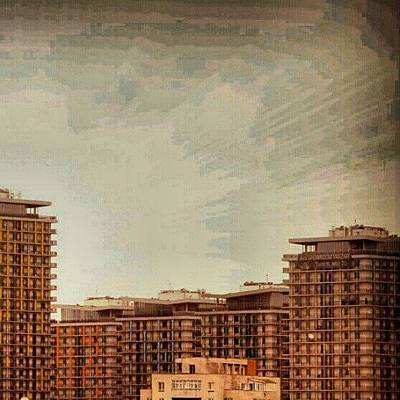 Abstract Skyline Wall Art - Photograph - #bucharest #skyline #asmitagardens by Vaivoda Vlad