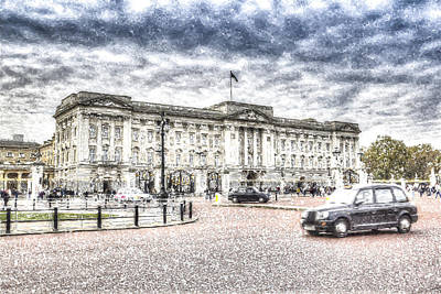 Buckingham Palace Snow Art Print
