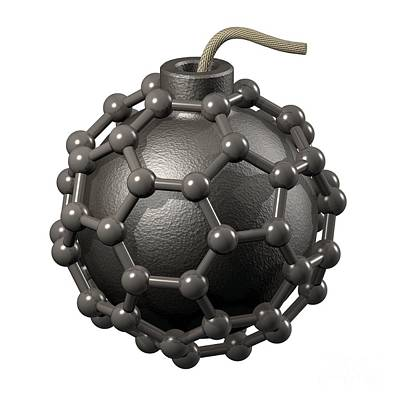 Fused Photograph - Buckyball Bomb, Conceptual Artwork by Laguna Design