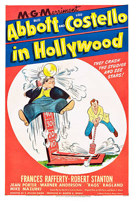 Bud Abbott And Lou Costello In Print by Everett