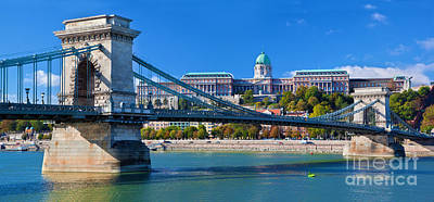 Photograph - Buda Castle And Chain Bridge In Budapest by Michal Bednarek