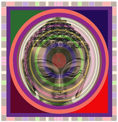 Champion Mixed Media - Buddha In Meditation Aura Art by Navin Joshi