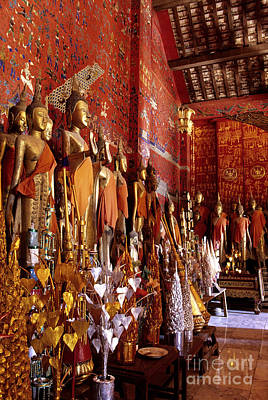 Photograph - Buddha Statues Luang Prabang Laos by Ryan Fox