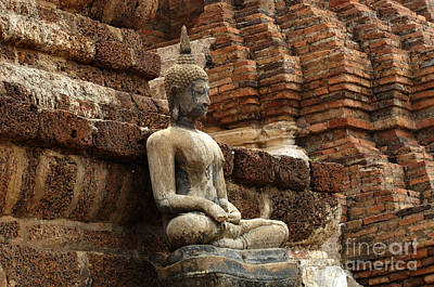 Photograph - Buddha Sukhothai Thailand 3 by Bob Christopher