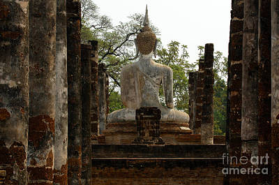 Photograph - Buddha Sukhothai Thailand 4 by Bob Christopher