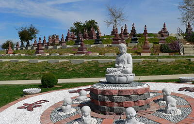 Photograph - Buddhist Memorial Columbarium by Jeff Lowe