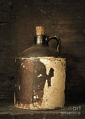 Crock Photograph - Buddy Bear's Little Brown Jug by John Stephens