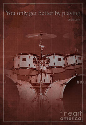 Buddy Rich Quote Art Print by Pablo Franchi