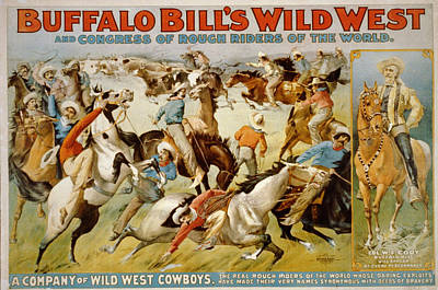 Wild Horse Digital Art - Buffalo Bills Wild West by Unknown