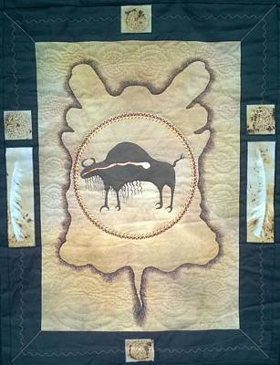 Mixed Media - Buffalo Robe by Jan Reich