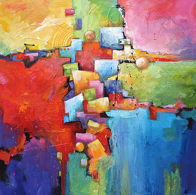 Size Mixed Media - Building Blocks by Karen Hale