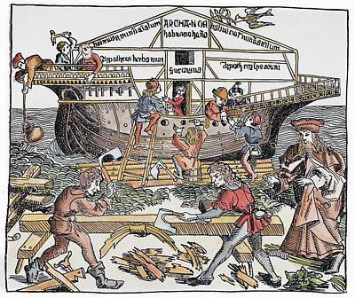 Building Of Noah's Ark Art Print by Granger