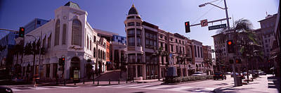 Buildings Along The Road, Rodeo Drive Art Print by Panoramic Images