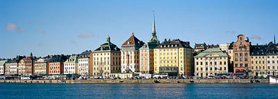 Gamla Stan Photograph - Buildings At The Waterfront, Gamla by Panoramic Images