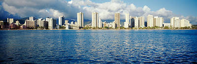Buildings At The Waterfront, Honolulu Art Print by Panoramic Images