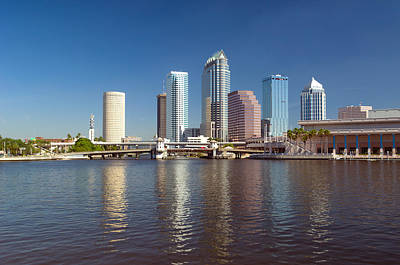 Florida Bridge Photograph - Buildings At The Waterfront, Tampa by Panoramic Images