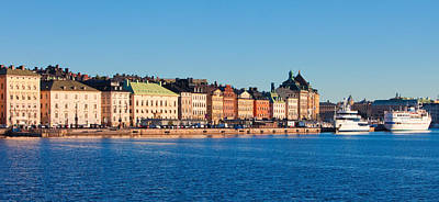 Gamla Stan Photograph - Buildings At Waterfront, Gamla Stan by Panoramic Images