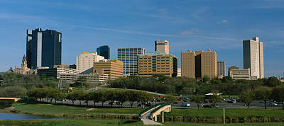 Worth Photograph - Buildings In A City, Fort Worth, Texas by Panoramic Images