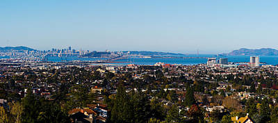 Alcatraz Photograph - Buildings In A City, Oakland, San by Panoramic Images