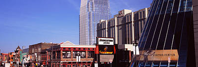 Downtown Nashville Photograph - Buildings In A Downtown District by Panoramic Images