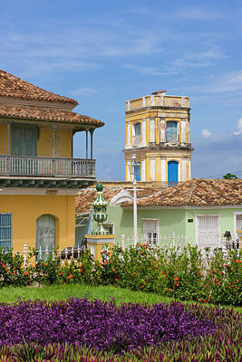 Trinidad House Photograph - Buildings In Plaza Mayor, Trinidad by Keren Su