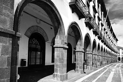 Buildings In Ponta Delgada Art Print by Gaspar Avila