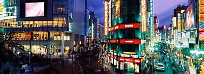 Buildings Lit Up At Night, Shinjuku Art Print by Panoramic Images