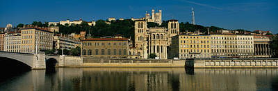 Saone River Photograph - Buildings On The Waterfront, Saone by Panoramic Images