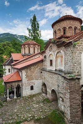 Eastern Orthodox Wall Art - Photograph - Bulgaria, Southern Mountains, Bachkovo by Walter Bibikow