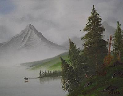 Bull Lake Art Print by Caleb Mitchell