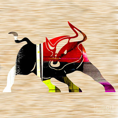 Abstract Mixed Media - Bull by Marvin Blaine