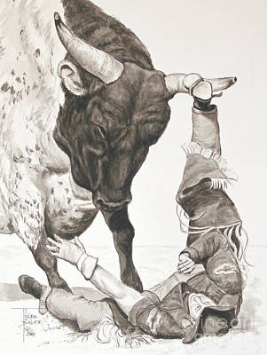 Painting - Bull Power by Art By - Ti   Tolpo Bader