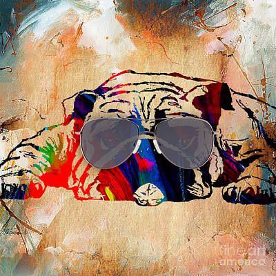 Puppies Mixed Media - Bulldog Collection by Marvin Blaine