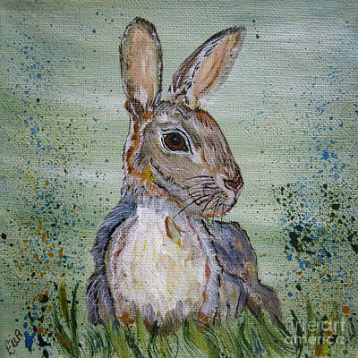 Painting - Bunny Rabbit by Ella Kaye Dickey