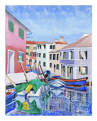 Burano Venice Art Print