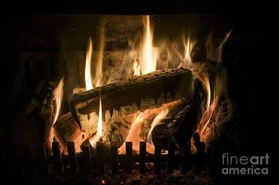 Burning Wood Photograph - Burning Wood On An Open Fire by Sheila Terry
