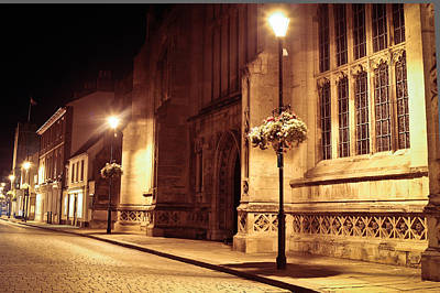 Bury St Edmunds Night Scene Art Print by Tom Gowanlock