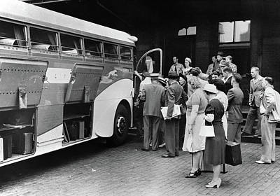 Greyhound Photograph - Bus Station, 1940 by Granger